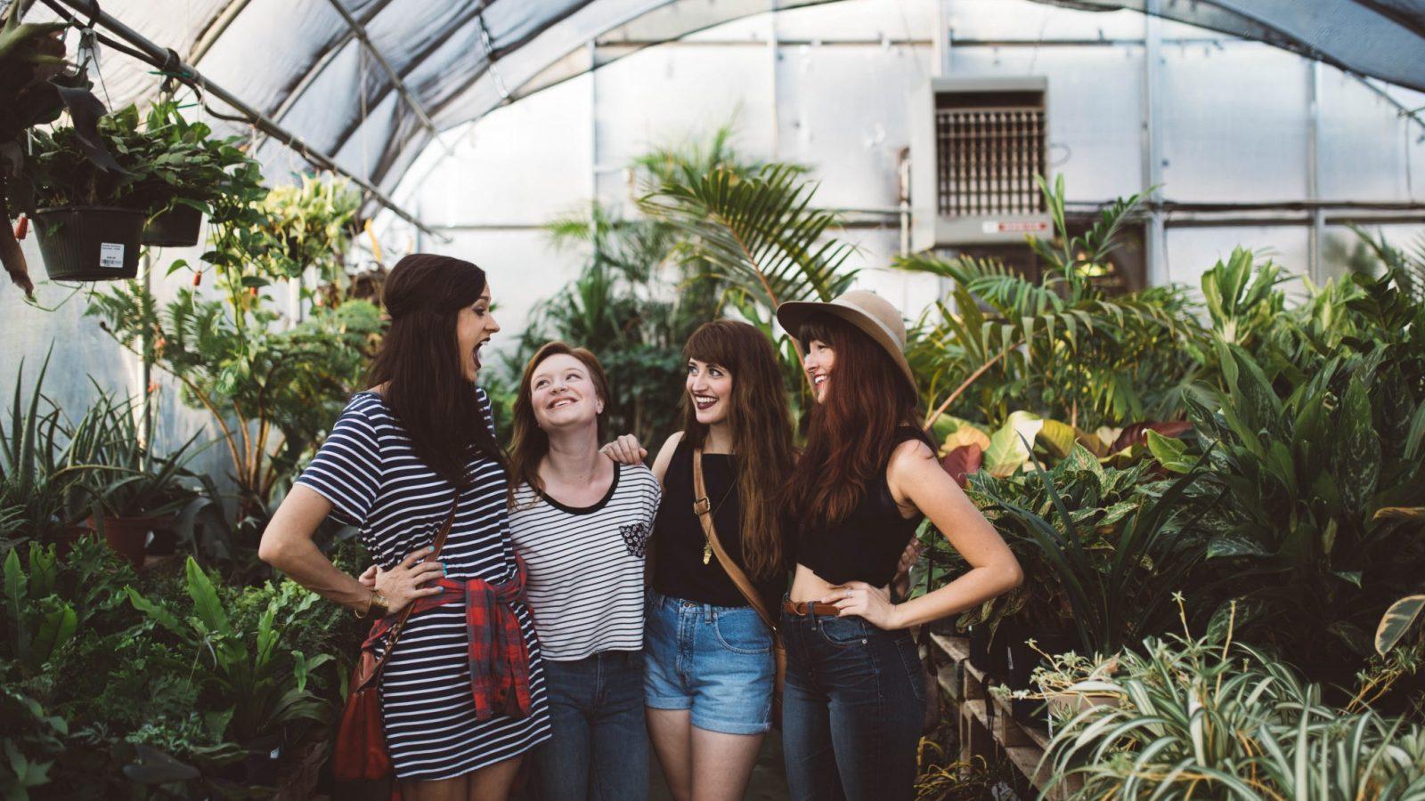 women in greenhouse
